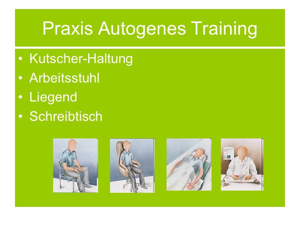 Praxis Autogenes Training Kutscher-Haltung Arbeitsstuhl Liegend Schreibtisch