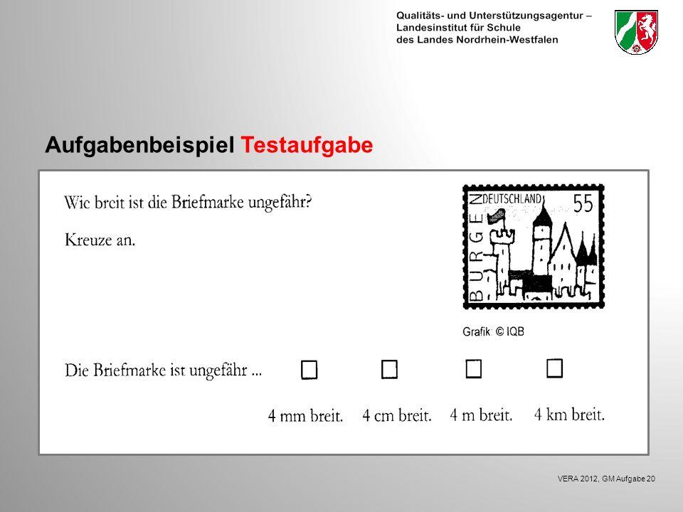 Aufgabenbeispiel Testaufgabe VERA 2012, GM Aufgabe 20