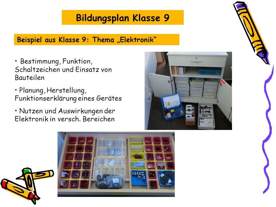 Beispiel Klasse 10: Thema Bauen und Wohnen Planen, Herstellen und Bewerten eines Bauwerks oder Modells Bildungsplan Klasse 10