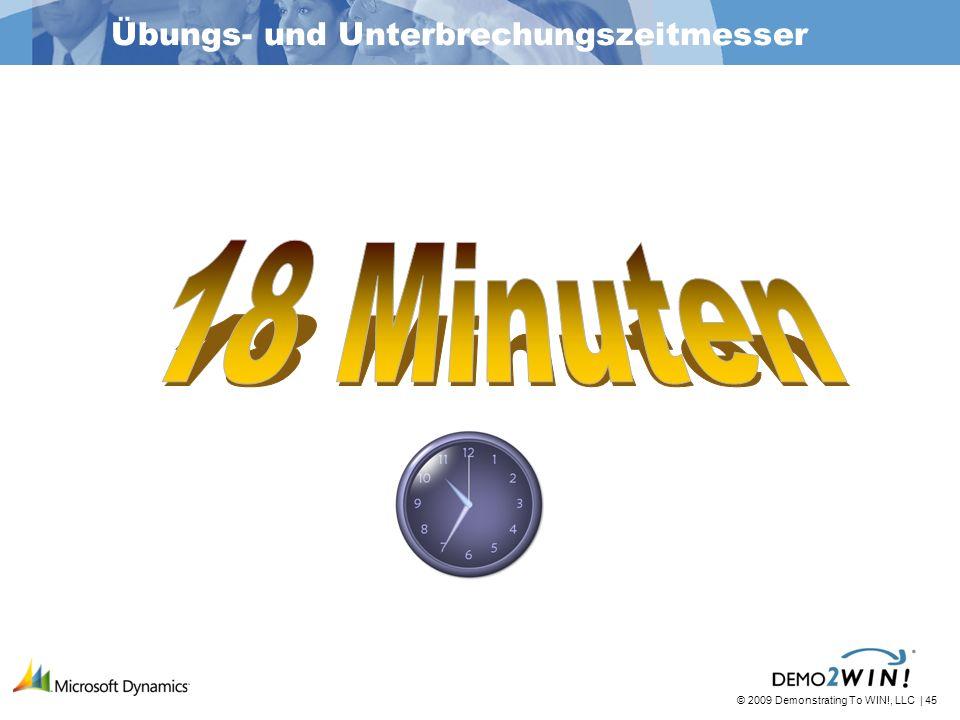 © 2009 Demonstrating To WIN!, LLC | 45 Übungs- und Unterbrechungszeitmesser