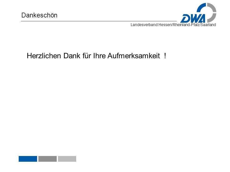 Landesverband Hessen/Rheinland-Pfalz/Saarland Dankeschön Herzlichen Dank für Ihre Aufmerksamkeit !
