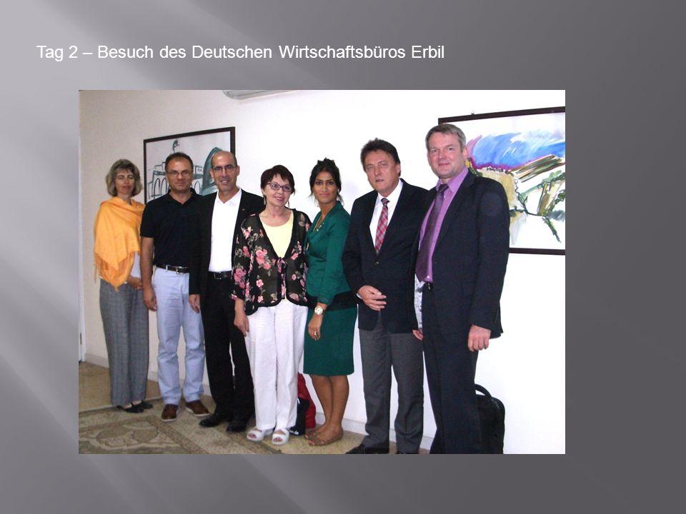 Tag 2 – Besuch des Deutschen Wirtschaftsbüros Erbil