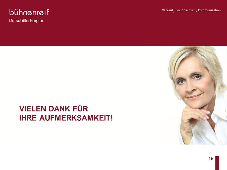 Businessetikette VIELEN DANK FÜR IHRE AUFMERKSAMKEIT! 19