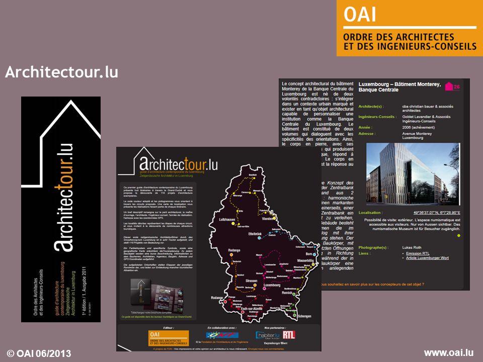 © OAI 06/2013 www.oai.lu Architectour.lu