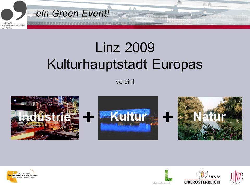 ein Green Event! Linz 2009 Kulturhauptstadt Europas vereint Industrie + Kultur + Natur
