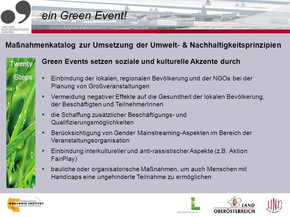 ein Green Event.