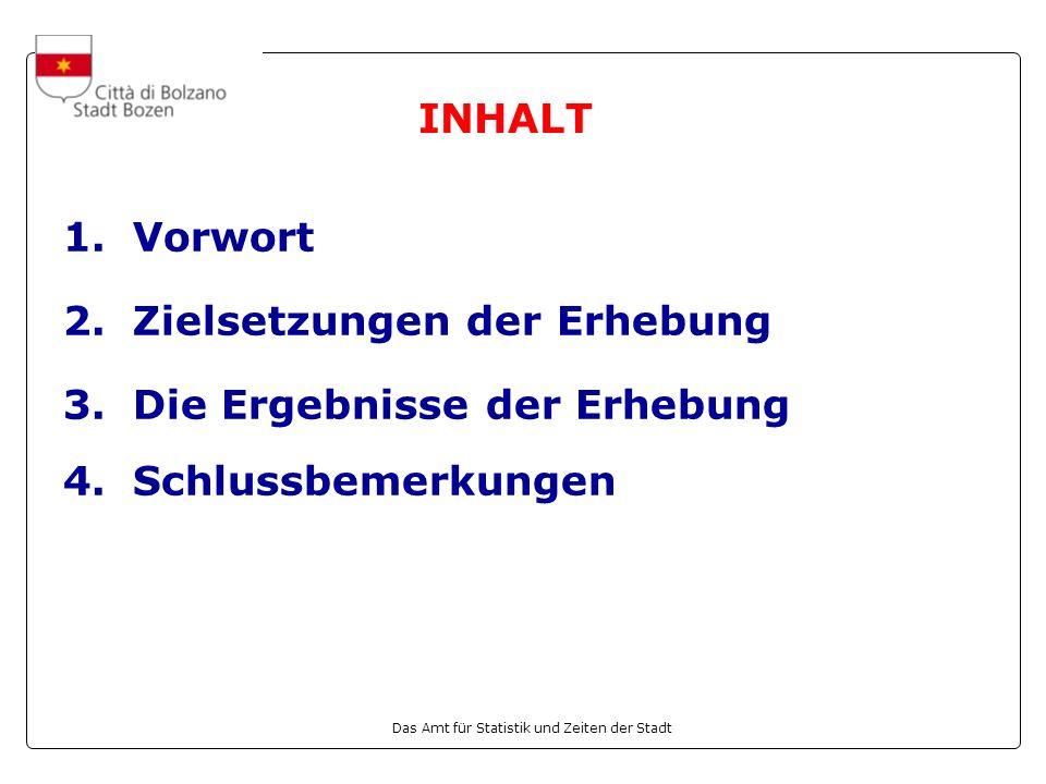 Das Amt für Statistik und Zeiten der Stadt 1.