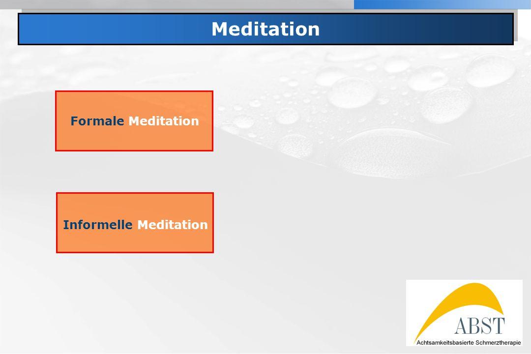 YOUR LOGO Meditation Formale Meditation Informelle Meditation