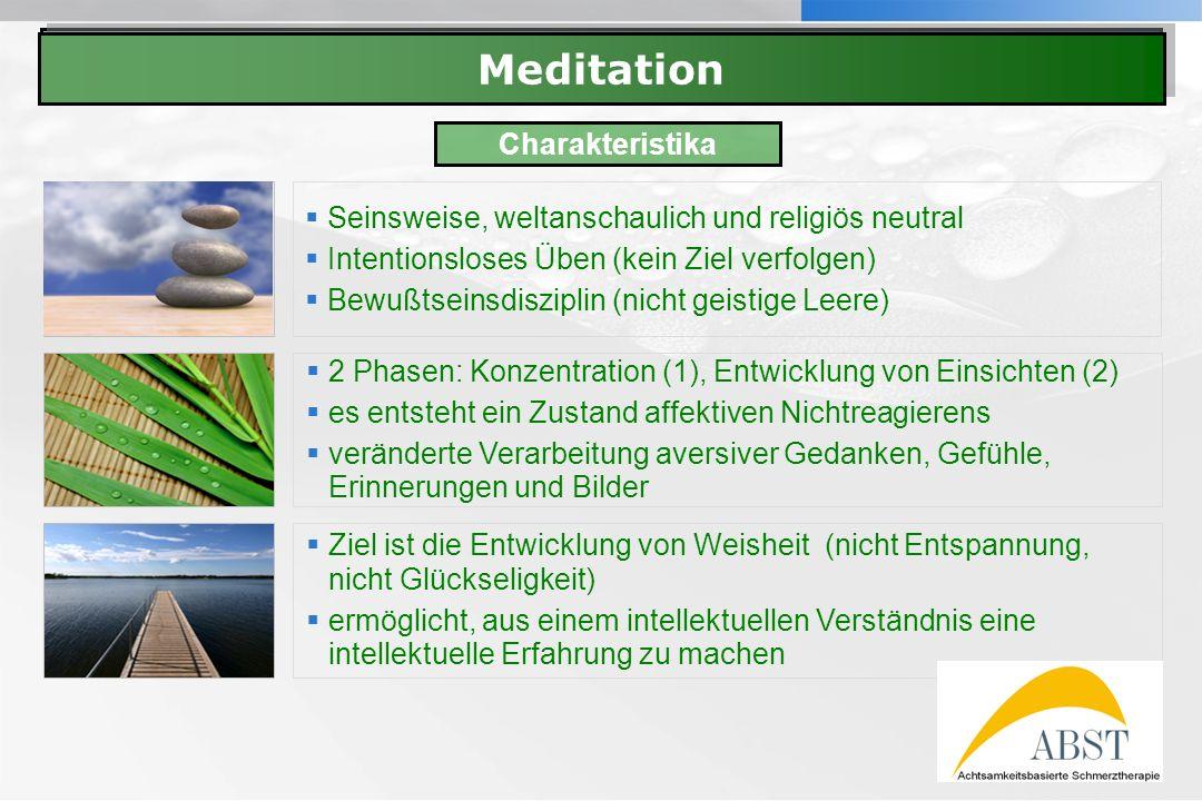 YOUR LOGO Meditation Seinsweise, weltanschaulich und religiös neutral Intentionsloses Üben (kein Ziel verfolgen) Bewußtseinsdisziplin (nicht geistige