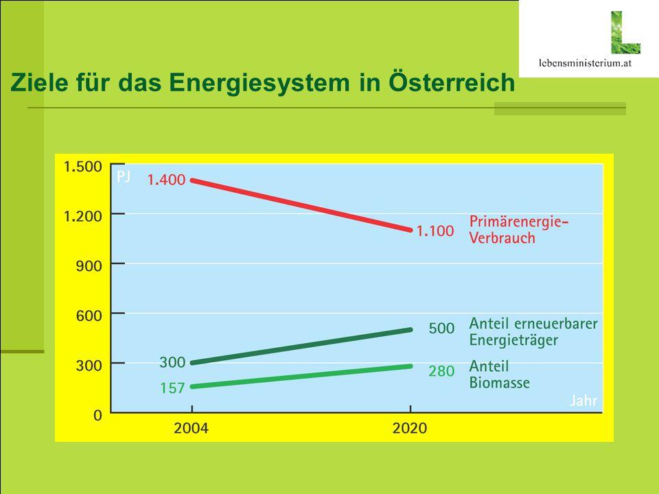 Ziele für das Energiesystem in Österreich