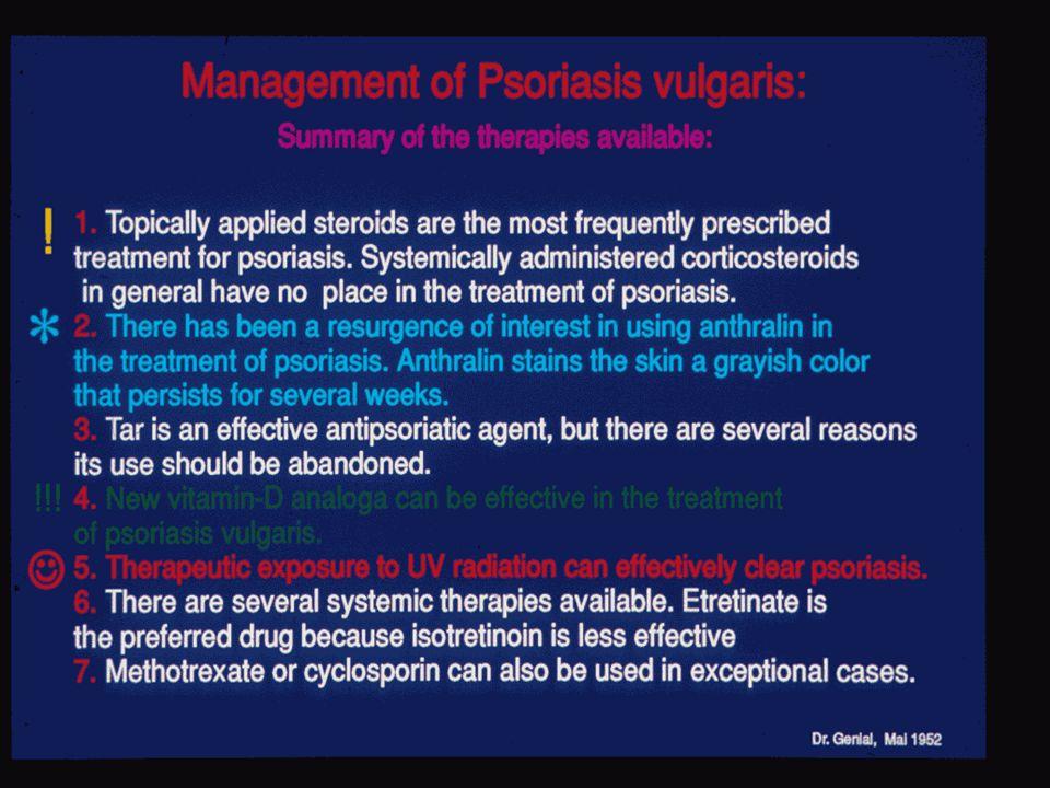 Psoriasis vulgaris Steroide Cignolin (Teer) Vitamin D Analoga UV Strahlen Systemische Therapie Behandlungsmöglichkeiten