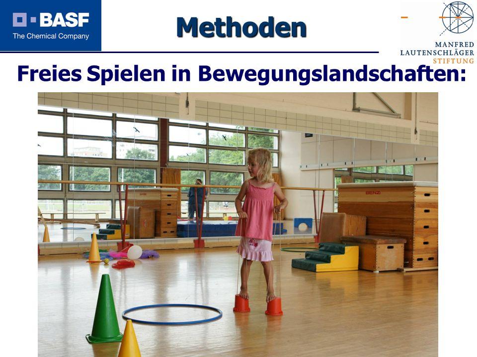 Spendenprojekt 2011 Freies Spielen in Bewegungslandschaften: Methoden