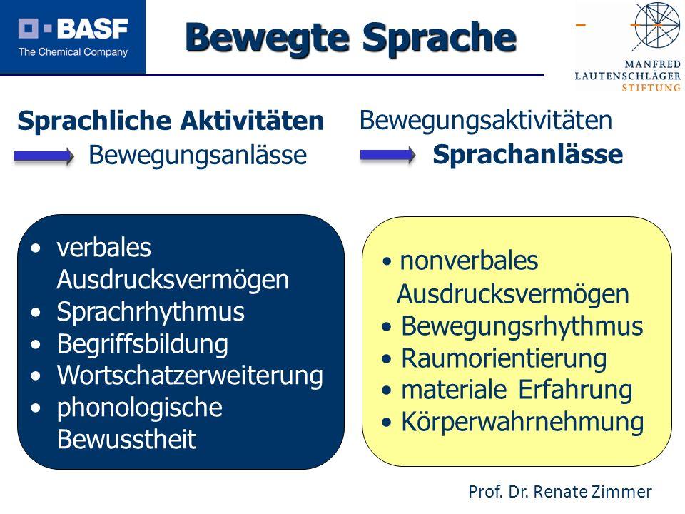 Spendenprojekt 2011 Sprachliche Aktivitäten Bewegungsanlässe Bewegungsaktivitäten Sprachanlässe verbales Ausdrucksvermögen Sprachrhythmus Begriffsbild