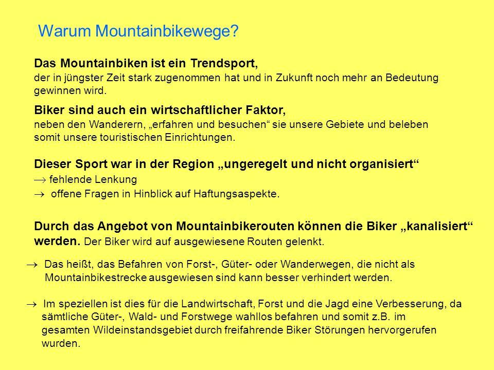 Warum Mountainbikewege.