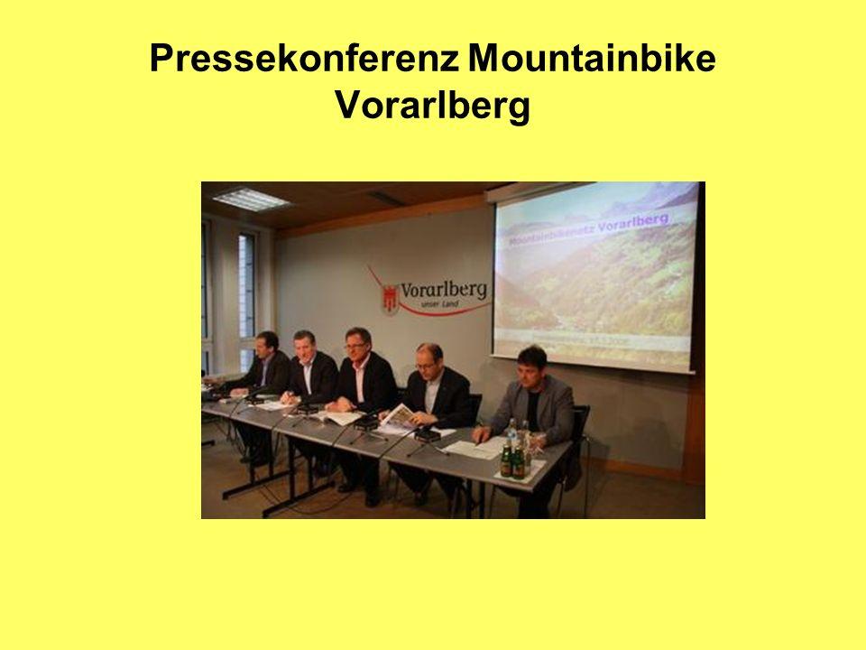 Pressekonferenz Mountainbike Vorarlberg