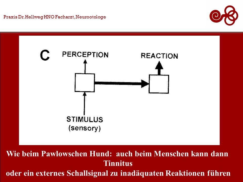 Praxis Dr.Hellweg HNO Facharzt, Neurootologe Wie beim Pawlowschen Hund: auch beim Menschen kann dann Tinnitus oder ein externes Schallsignal zu inadäquaten Reaktionen führen