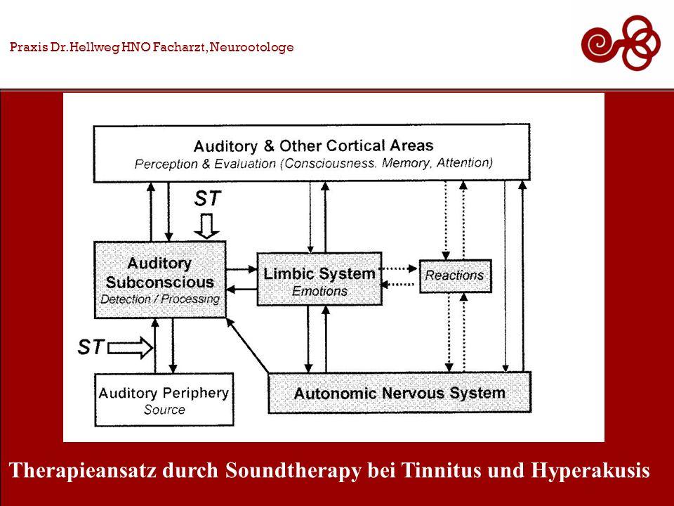 Praxis Dr.Hellweg HNO Facharzt, Neurootologe Therapieansatz durch Soundtherapy bei Tinnitus und Hyperakusis