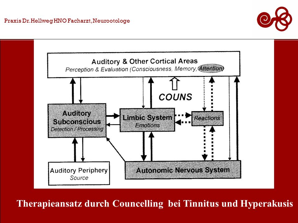 Praxis Dr.Hellweg HNO Facharzt, Neurootologe Therapieansatz durch Councelling bei Tinnitus und Hyperakusis