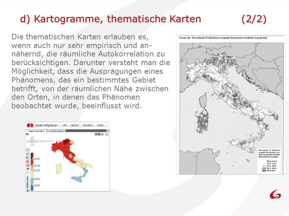 Die thematischen Karten erlauben es, wenn auch nur sehr empirisch und an- nähernd, die räumliche Autokorrelation zu berücksichtigen.