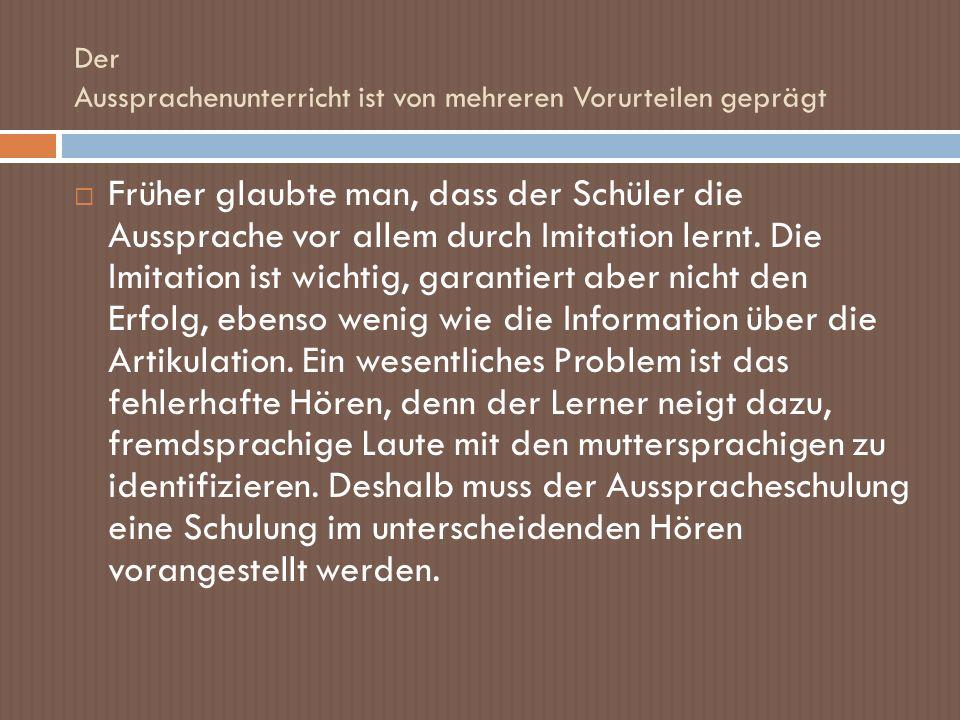 Cauneau beschreibt den Akzent auf dem Niveau des Wortes und des Satzes: Der Wortakzent im Deutschen ist ein Intensitätsakzent.