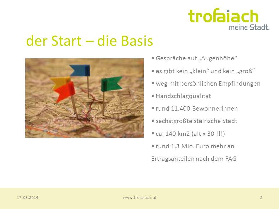 Ordentlicher Haushalt (2013) 13www.trofaiach.at17.05.2014