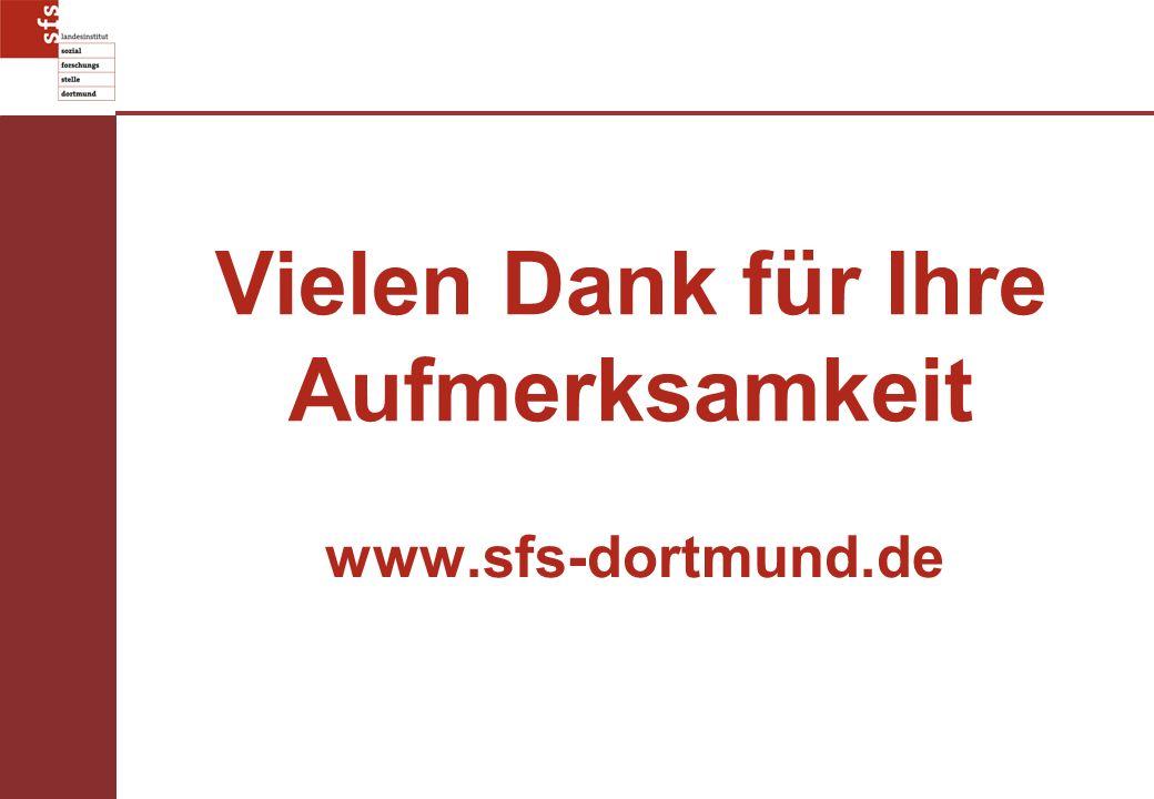 Vielen Dank für Ihre Aufmerksamkeit www.sfs-dortmund.de