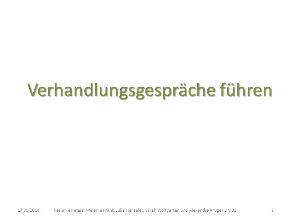 Verhandlungsgespräche führen Melanie Peters, Melanie Frank, Julia Henseler, Sarah Wolfgarten und Alexandra Krüger DM0317.05.20141