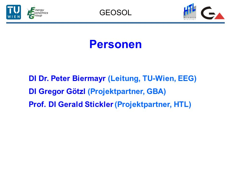 GEOSOL Personen DI Dr.