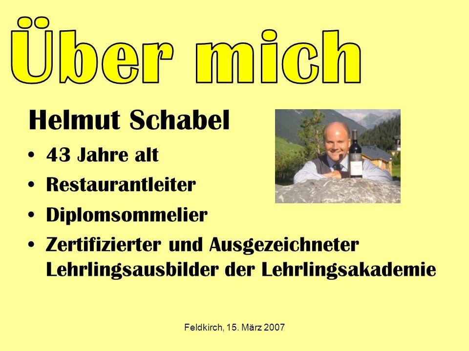 Helmut Schabel 43 Jahre alt Restaurantleiter Diplomsommelier Zertifizierter und Ausgezeichneter Lehrlingsausbilder der Lehrlingsakademie