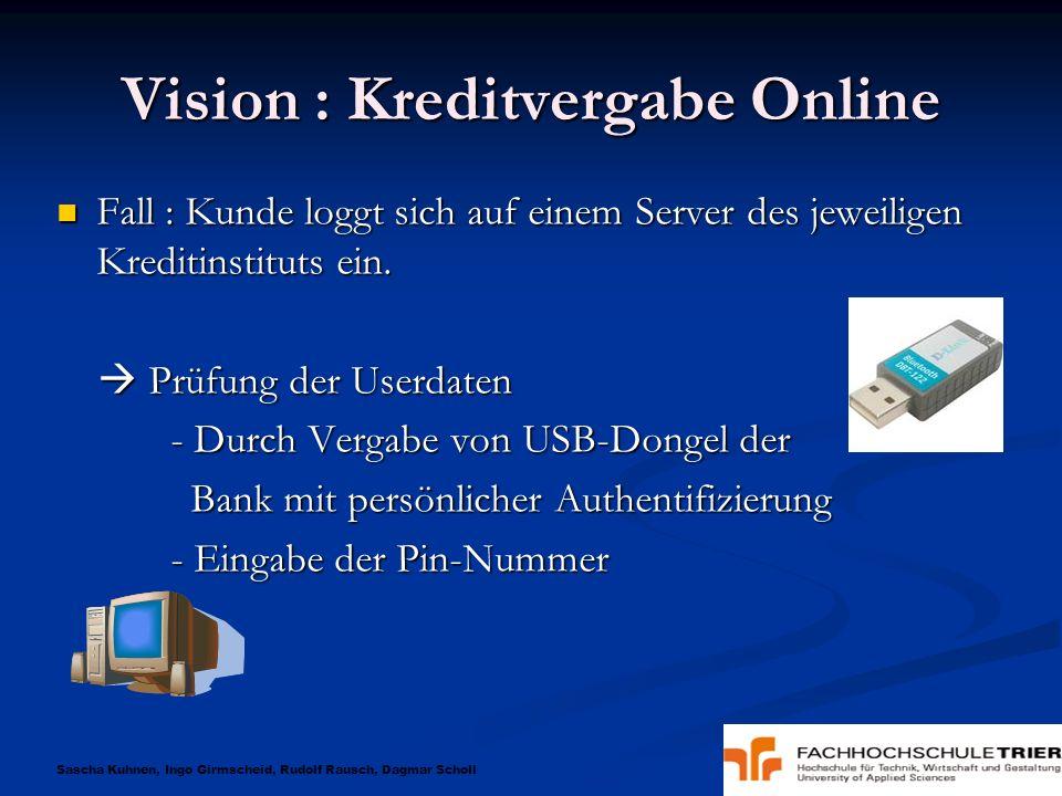 Sascha Kuhnen, Ingo Girmscheid, Rudolf Rausch, Dagmar Scholl Vision : Kreditvergabe Online Eingabe des Kreditwunsches mit Konditionen.