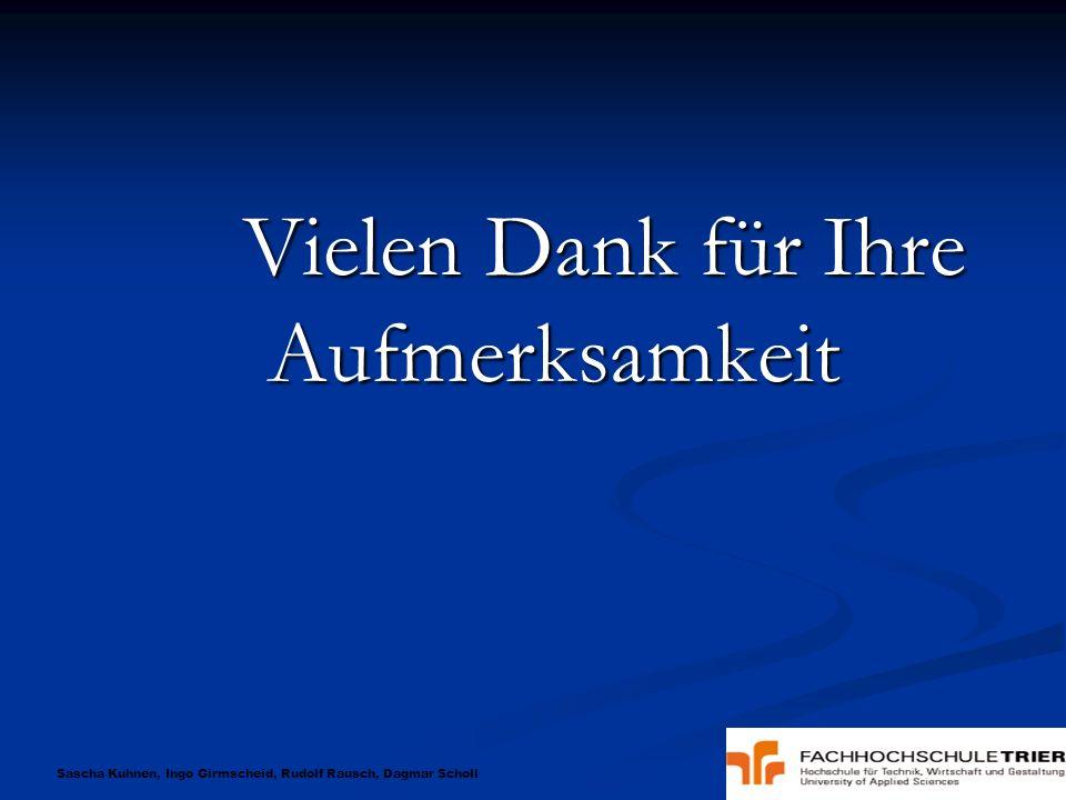 Sascha Kuhnen, Ingo Girmscheid, Rudolf Rausch, Dagmar Scholl Vielen Dank für Ihre Aufmerksamkeit Vielen Dank für Ihre Aufmerksamkeit