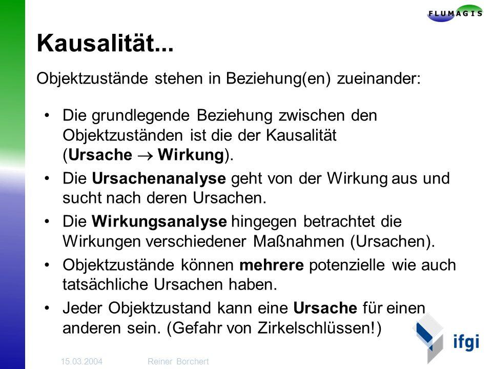 15.03.2004Reiner Borchert Kausalität...