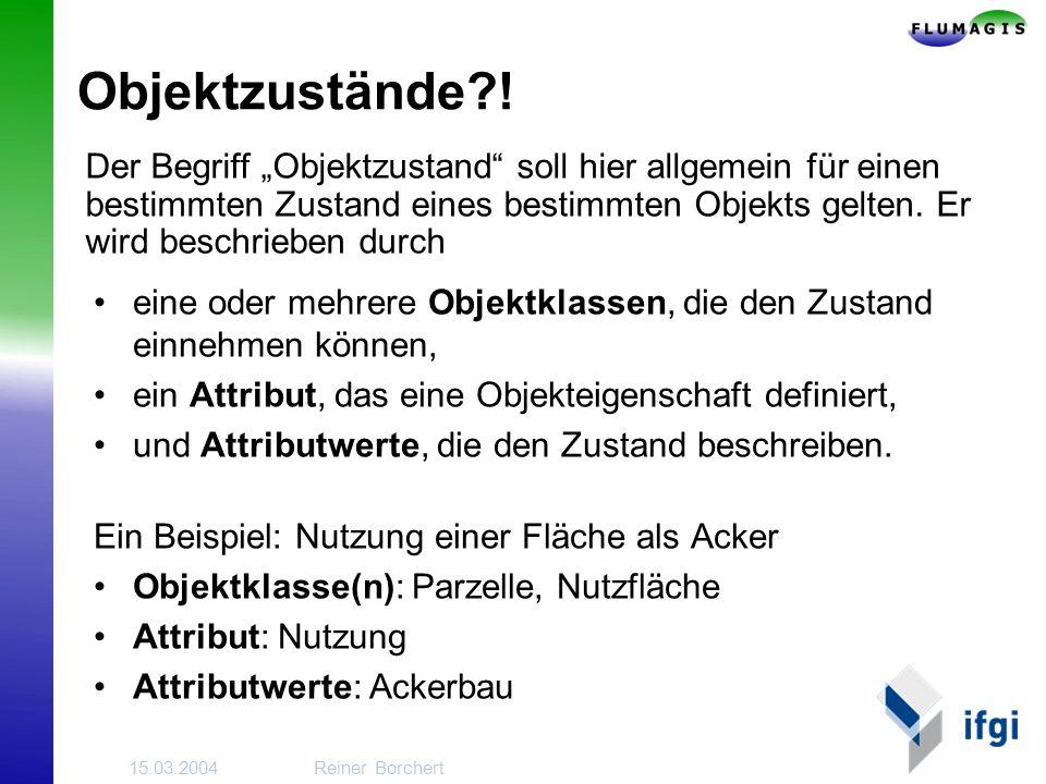 15.03.2004Reiner Borchert Objektzustände?.