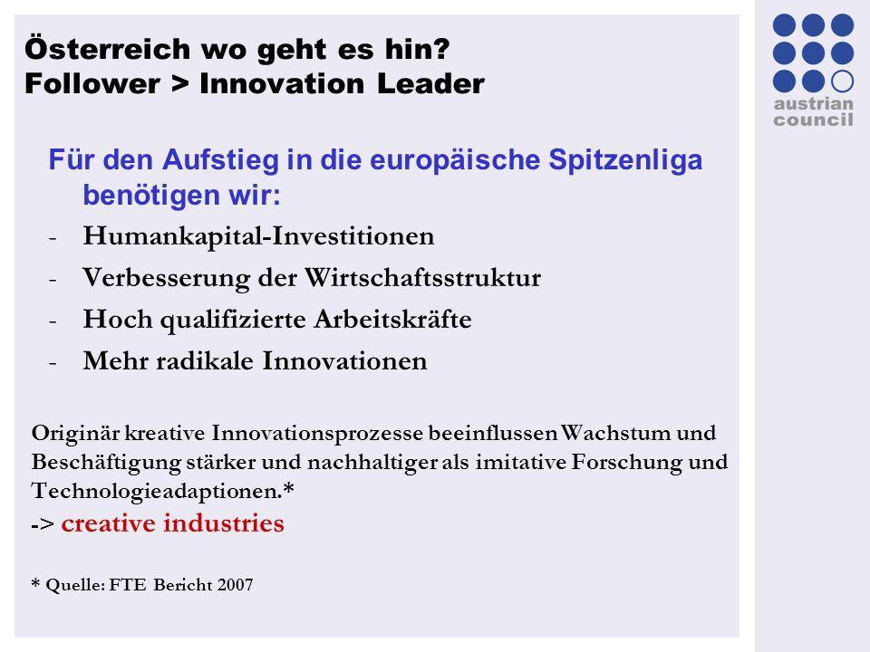 Für den Aufstieg in die europäische Spitzenliga benötigen wir: -Humankapital-Investitionen -Verbesserung der Wirtschaftsstruktur -Hoch qualifizierte A