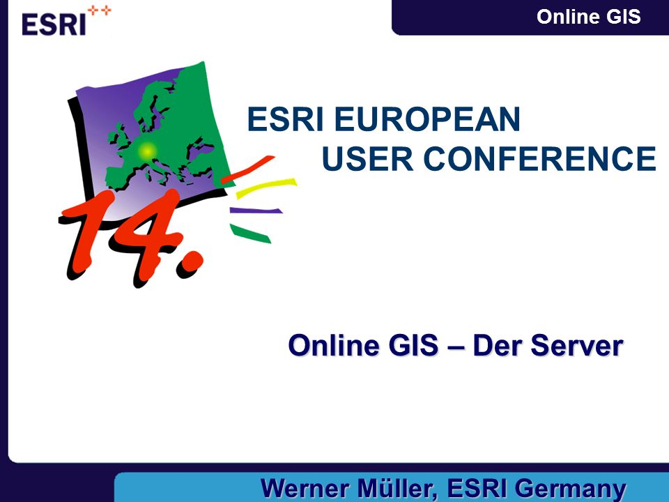 Online GIS Online GIS – Der Server Werner Müller, ESRI Germany ESRI EUROPEAN USER CONFERENCE