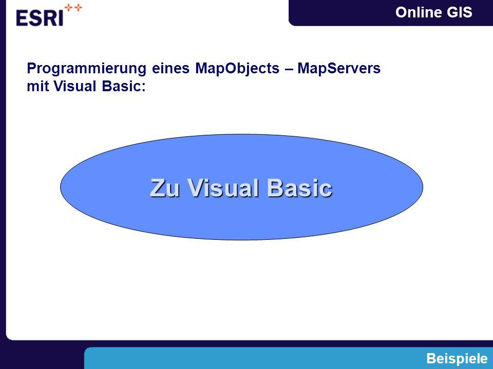 Online GIS Programmierung eines MapObjects – MapServers mit Visual Basic: Beispiele Zu Visual Basic