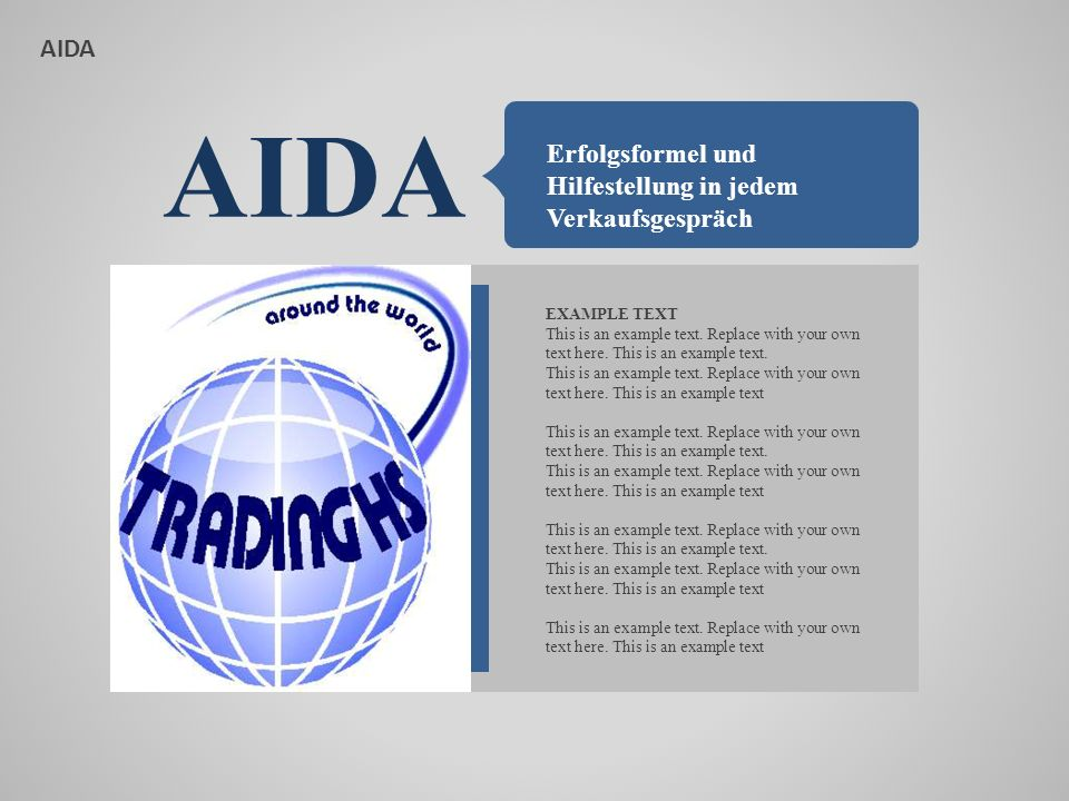 AIDA A ATTENTION This is an example text.Replace with your own text here.