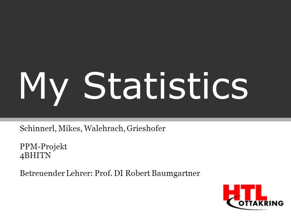 My Statistics Schinnerl, Mikes, Walehrach, Grieshofer PPM-Projekt 4BHITN Betreuender Lehrer: Prof. DI Robert Baumgartner
