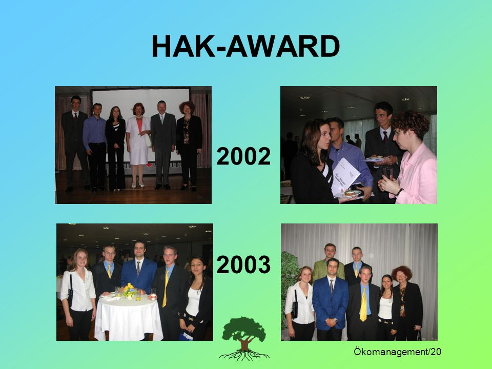 Ökomanagement/20 HAK-AWARD 2002 2003