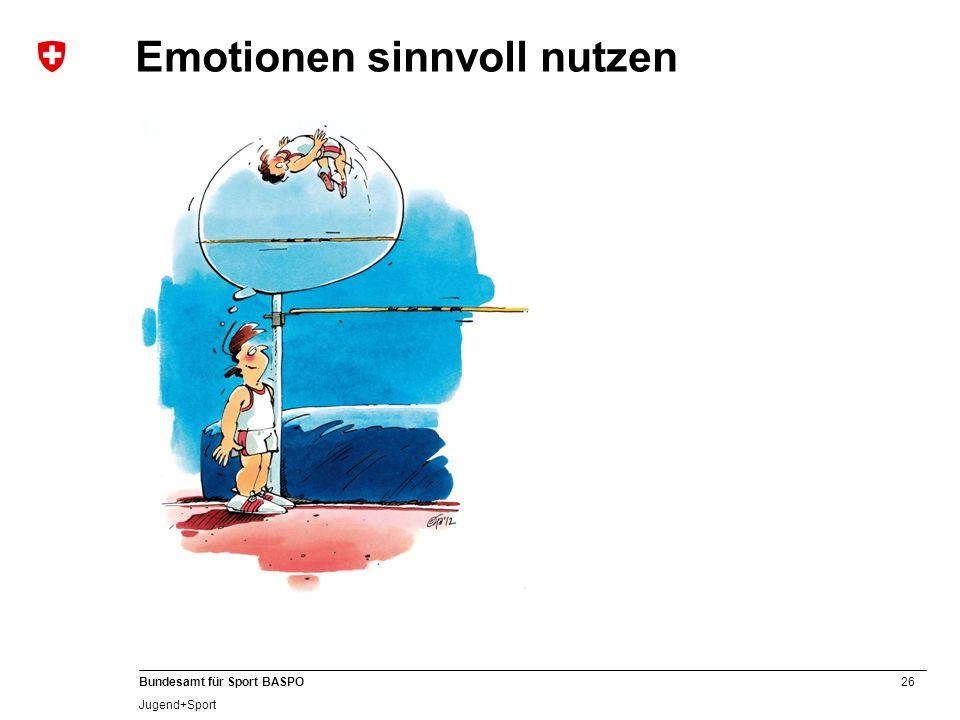 26 Bundesamt für Sport BASPO Jugend+Sport Emotionen sinnvoll nutzen