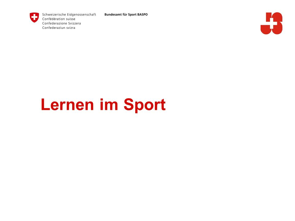 6 Bundesamt für Sport BASPO Jugend+Sport