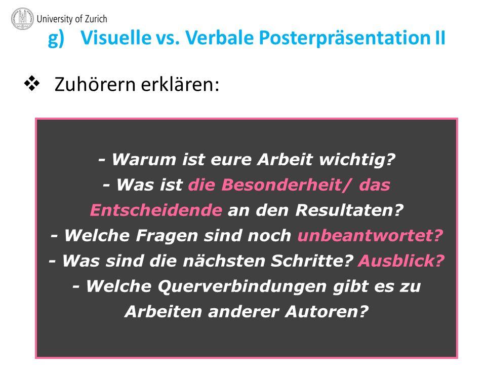 g) Visuelle vs.