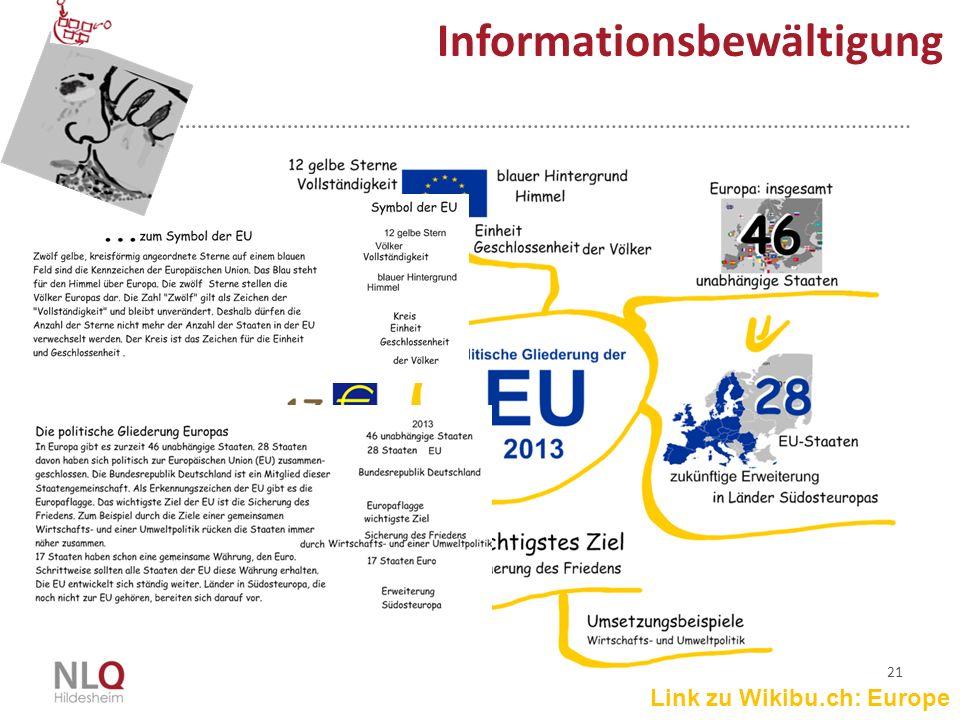 21 Informationsbewältigung Link zu Wikibu.ch: Europe
