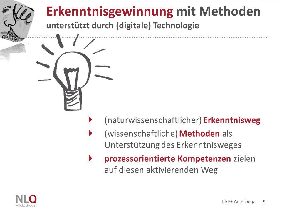 Ulrich Gutenberg 3 Erkenntnisgewinnung mit Methoden unterstützt durch (digitale) Technologie (naturwissenschaftlicher) Erkenntnisweg (wissenschaftlich