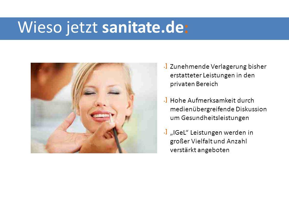sanitateCard ist Alternative zu Bargeld schenken für den Erwerber Einfache Methode einer privaten Gesundheistförderung für den Beschenkten sanitateCard wirkt wie Bargeld für den Behandelnden Welchen Vorteil hat sanitate.de :.]