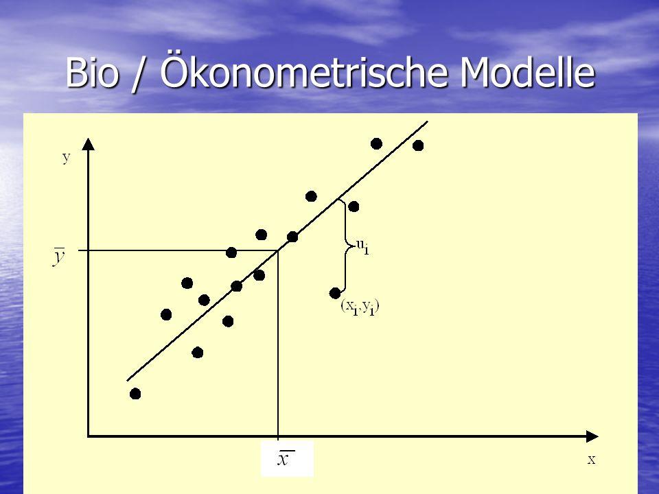 Bio / Ökonometrische Modelle
