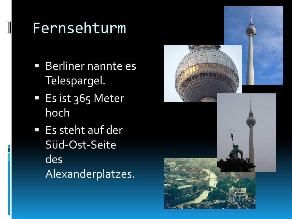 Fernsehturm Berliner nannte es Telespargel.