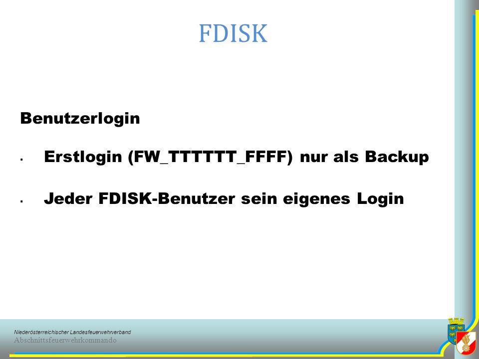 Niederösterreichischer Landesfeuerwehrverband Abschnittsfeuerwehrkommando FDISK Überstellung FJ Keine automatischer Wechsel mehr mit 15 Jahren zur aktiven Mannschaft FKDT bestimmt die Überstellung erfolgt Mitglied kann nur in der FJ ( bis 16 ) oder aktiven Mannschaft sein nach der Überstellung keine zurück