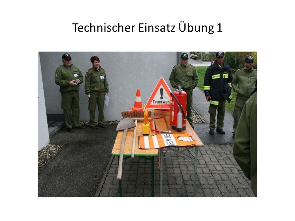 Technischer Einsatz Übung 1
