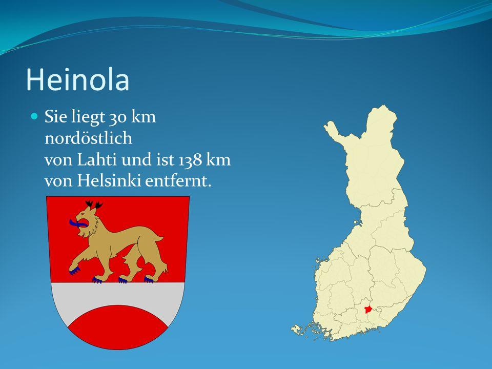 Heinola Sie liegt 30 km nordöstlich von Lahti und ist 138 km von Helsinki entfernt.